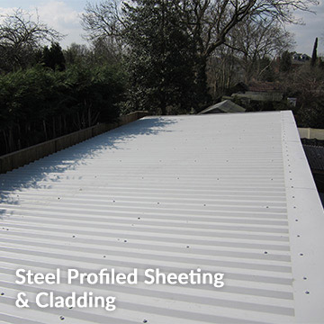 Steel profiled sheeting and cladding